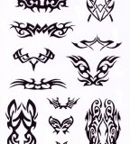Various Cool Tribal Tattoo Design Sketches - Tribal Tattoos Sets