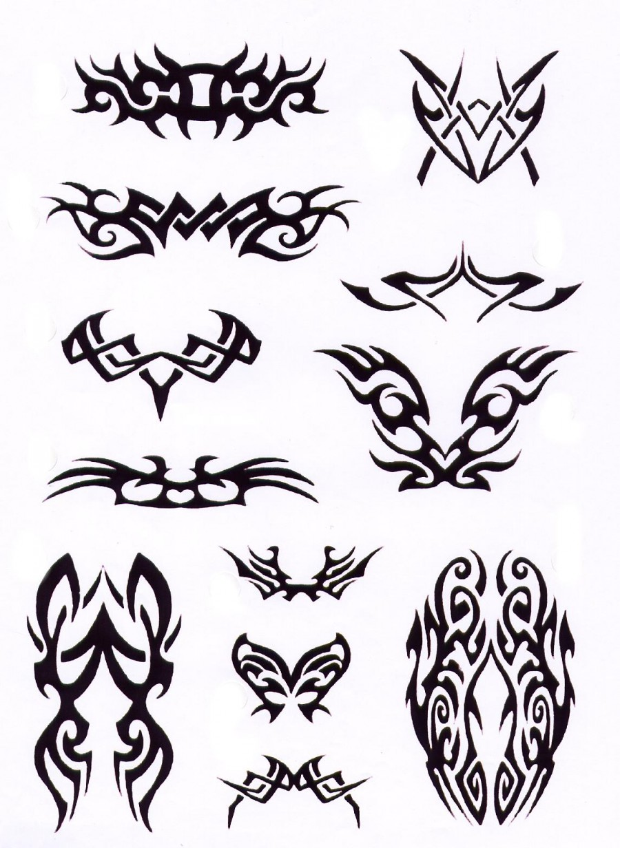 Various Cool Tribal Tattoo Design Sketches – Tribal Tattoos Sets