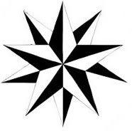 Symmetrical Tribal Star Tattoo Designs by Reagan1118 – Star Tattoos