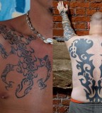 Polynesian Lizard Tribal Tattoos Design For Men