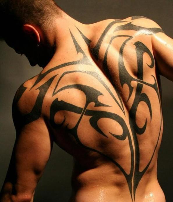 Awesome Tribal Back-Tattoo Designs for Men