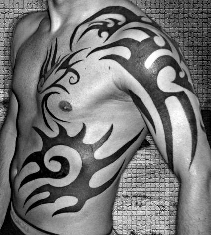 Tribal Upper-Arm to Ribs Tattoo Designs – Tribal Design Ideas for Men