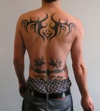 Tribal Tattoo Design for Men - Back & Lower-back Tribal Tattoos