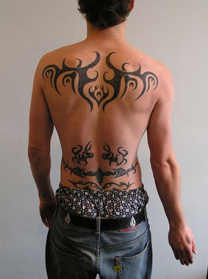 Tribal Tattoo Design for Men – Back & Lower-back Tribal Tattoos