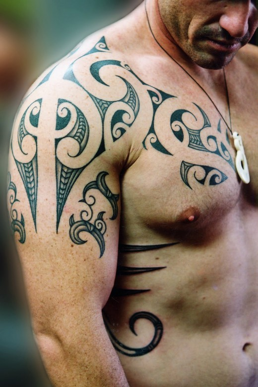 Awesome Polynesian – Tribal Tattoos Design for Men