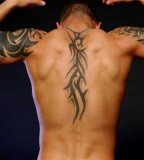 Half-Sleeve and Spine Tribal Tattoo Design for Men - Tribal Tattoos