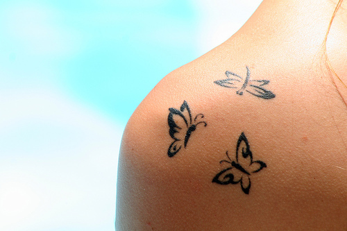 Small Butterflies Tattoo Design for Female