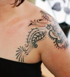 Tribal Shoulder Blade Tattoos Images For WoMen