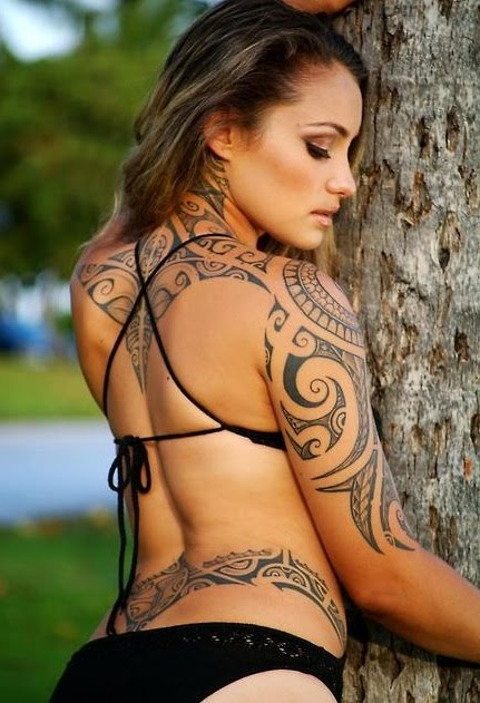 Tribal Tattoos Design Example for Women NSFW