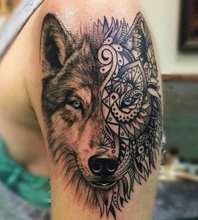tribal-wolf-tattoos