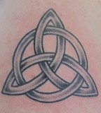 Cool Minimalist Trinity Knot Tattoo Design