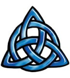 Blue Celtic Trinity Knot Temporary Tattoo