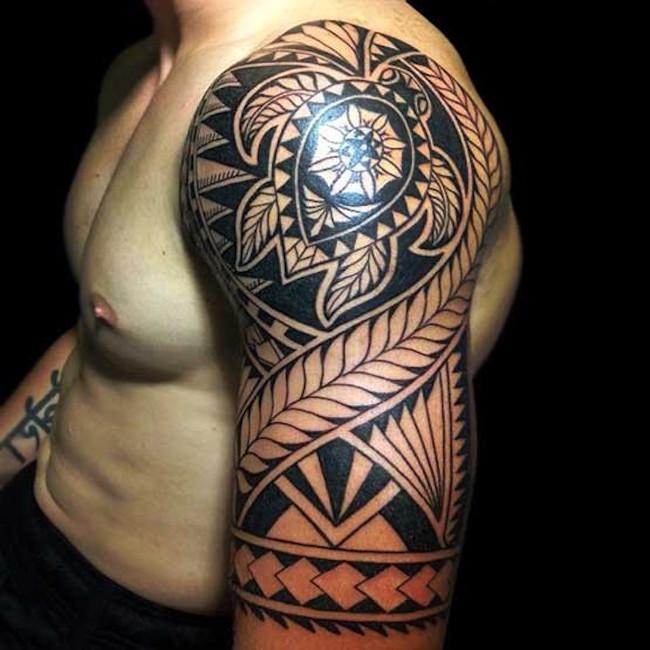 turtle inspired tribal tattoo