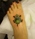 Cute Turtle Tattoo For Girls