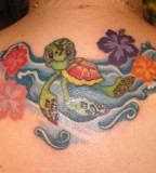 Turtle Tattoos - Upper Back Tattoo Design