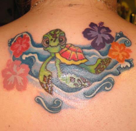 Turtle Tattoos – Upper Back Tattoo Design