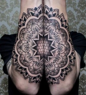 two piece mandala tattoo