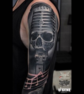 u_genetattoo-microphoneskull-tattoo