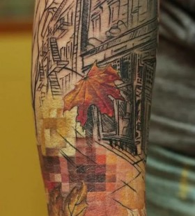unique-autumn-tattoo