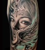 Amazing Cat Tattoo Tattoos Evil Valkyrie Wing