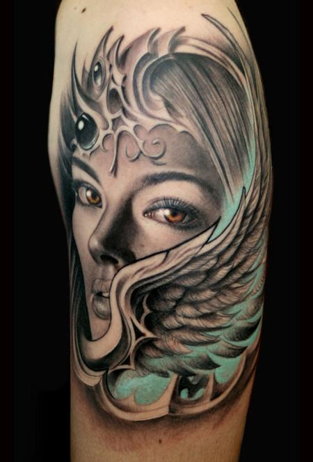 Amazing Cat Tattoo Tattoos Evil Valkyrie Wing