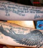 Max Payne Movie Wing Tattoo Design On Arm