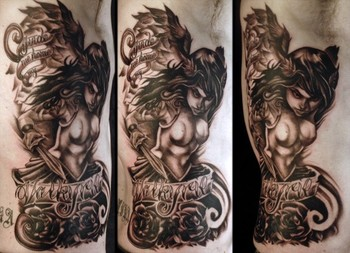 Valkyrie Collaboration Tattoo Design