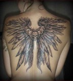 Valkyrie Wings Tattoo Design On Back