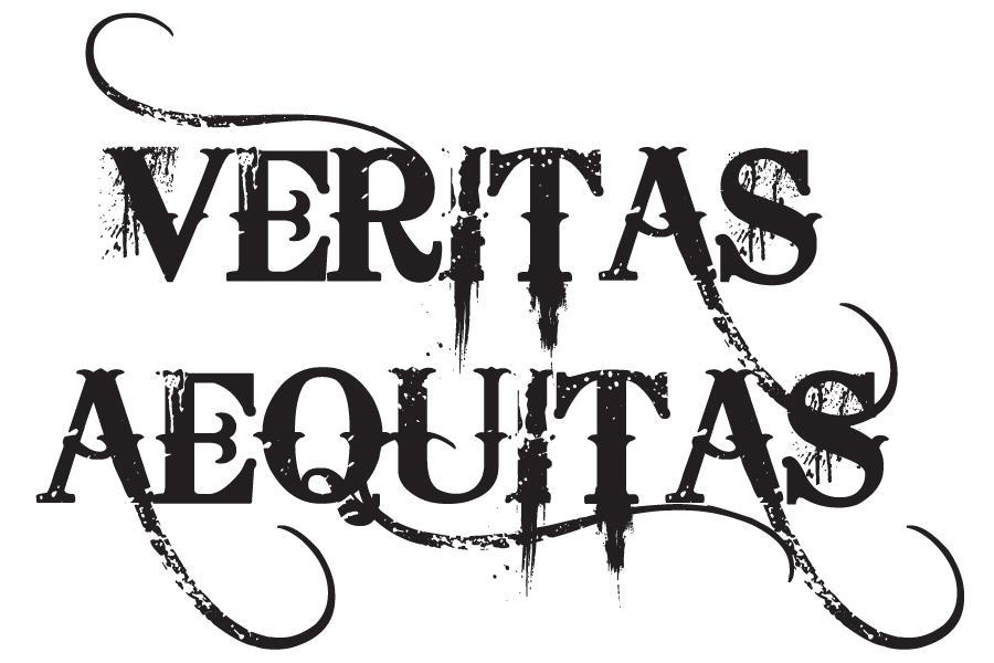 Minimalist Yet Art Full Veritas and Aequitas Tattoo Design
