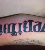 Amazing Aequitas Veritas Anagram Tattoo Design Inspiration