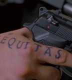 Boondock Saints Inspired Aequitas Pointer Finger Tattoo