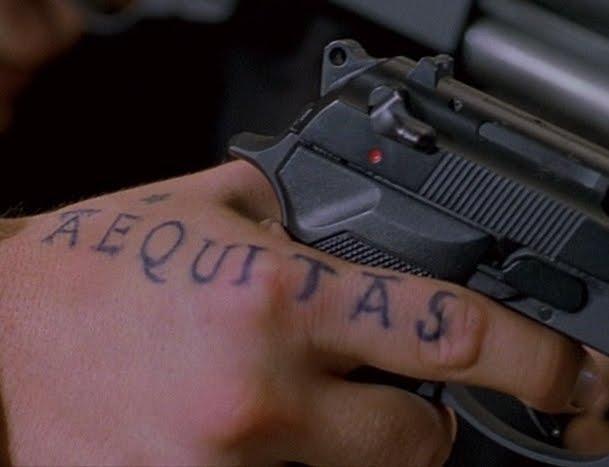 Boondock Saints Inspired Aequitas Pointer Finger Tattoo