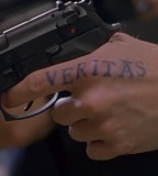 Boondock Saints Inspired Veritas Tattoo on Pointer Finger
