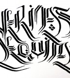 Cool Veritas Aequitas Calligraphy Outline Sketch for Tattoo