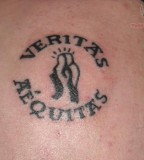 Cool Veritas and Aequitas Truth and Justice Tattoo On Shoulder