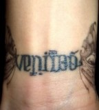 Wrist Veritas Aequitas Anagram Tattoo
