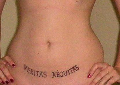 The Boondock Saints Tattoos on Abdomen for Women (NSFW)
