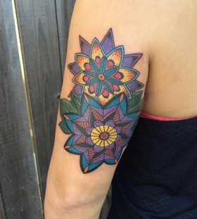 vibrant mandala tattoo