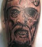 Black And Grey Viking Warrior Tattoo Free Download Tattoo 26807