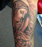 Inspirational Virgin Mary Sleeve Tattoos Design for Men - Religious Tattoos