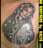 Praying Virgin Mary Tattoo Design Ideas - Christian Tattoos