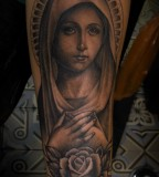 Arm-Tattoos of the Virgin Mary Tattoo Design for Men - Religious Tattoos