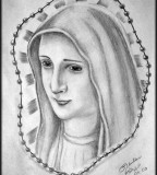 Virgin Mary Design Sketch for Tattoo by Gilrizzo (Deviantart)