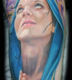 Modern-day Tattoo Drawing of the Virgin Mary - Religious Tattoos
