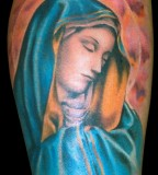 Amazing Painting-like Virgin Mary Tattoo Art - Christian Tattoos