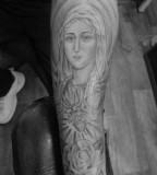 The Virgin Mary and Roses Sleeve / Arms-Tattoo Design Ideas
