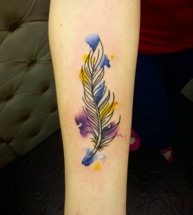 watercolor feather2