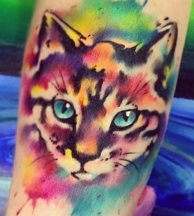 watercolor kitten