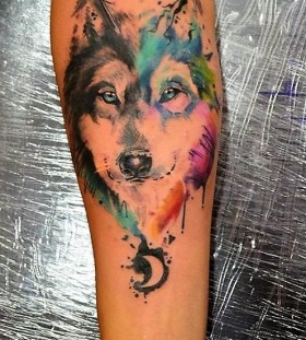 watercolor-wolf-tattoos