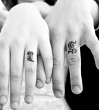 Memorable First Name Wedding Ring Finger Tattoo